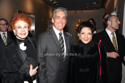Arlene Dahl,, Charles Cohen, Liza Minnelli  photo by Rob Rich © 2010 robwayne1@aol.com 516-676-3939