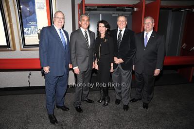 Roger Goldman, Charles Cohen, Katherine Oliver, Tom Sherak, Mark Ackermann photo by Rob Rich © 2010 robwayne1@aol.com 516-676-3939