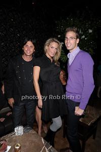 Jonathan Cheban, Heidi Albertsen, Simon Huck photo by Rob Rich © 2010 robwayne1@aol.com 516-676-3939