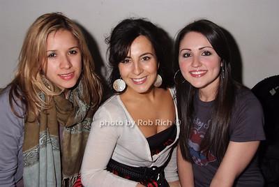 Yanina Monlina, Dee Caligiuri, Lisa Hanerfeld photo by Rob Rich © 2008 robwayne1@aol.com 516-676-3939
