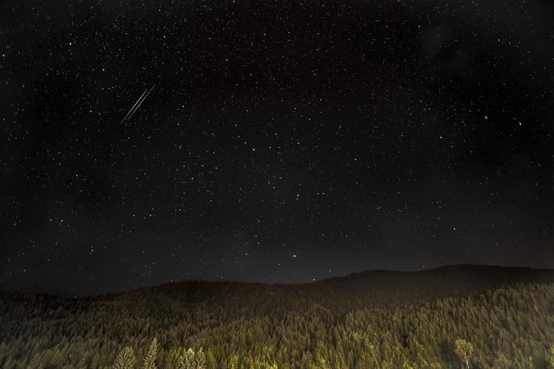 Perseid Meteor Shower over Shambhala