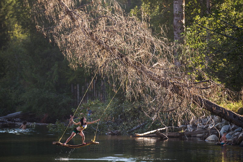 Swinging on the Salmo River