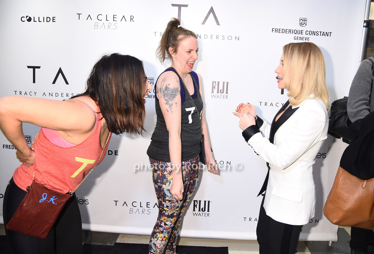Jenni Konner,Lena Dunham, Tracy Anderson photo by Rob Rich/SocietyAllure.com © 2017  robrich101@gmail.com 516-676-3939