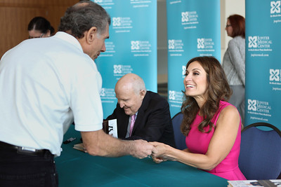 Book signing with Jack and Suzy Welch hosted by the Jupiter Medical Center at the Palm Beach County Convention Center on Monday, April 27, 2015.