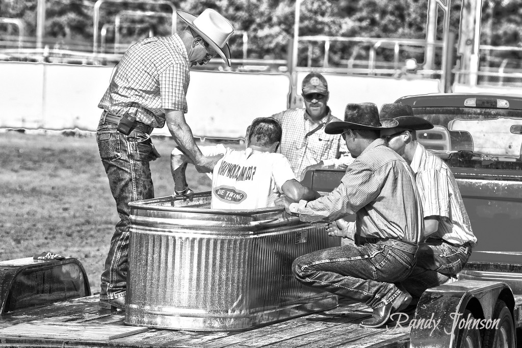 A water trough baptism
