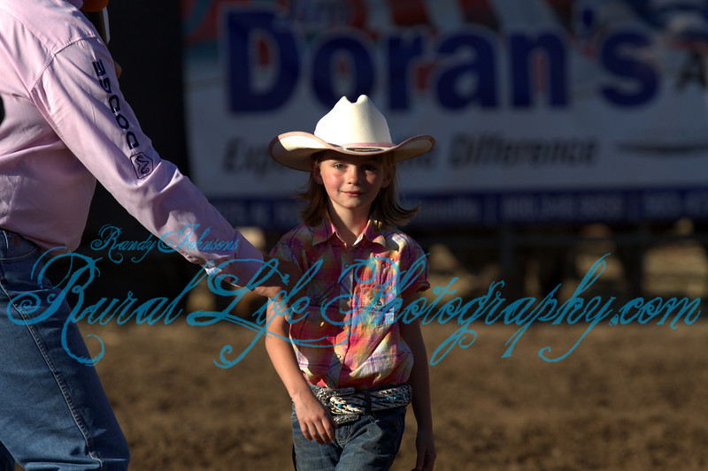 This 6 year old  Rodeo sweetheart sang the National anthem.