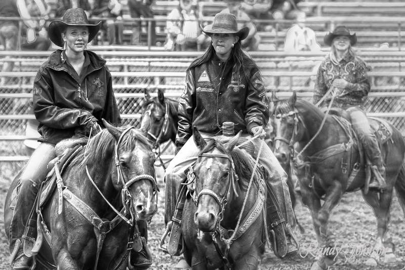 Stevie Rae Willis and good  friend Miss Janelle Ritz. Alder Creek Rodeo 2012