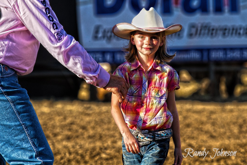 This 6 year old young Lady was Stepping wright up to sing The National Anthem Yamhill Rodeo.