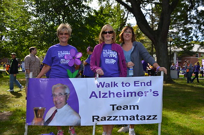 Team Razzmatazz includes Anita on the left.  She lost her Mom to Alzheimer's this past year.
