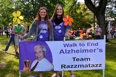 Kirsten whose Papa has Alzheimer's recuited some of her friends for the walk.  Sammy is on the right.
