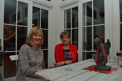 Kathy and Lisa out on the porch.
