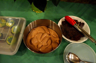 The extra leftover mousse.