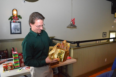 Anita Keeton wrapped this present.  Everyone was impressed.