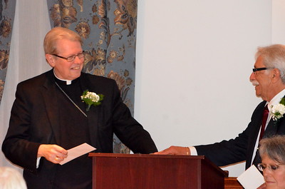 Anthony Zibella thanks Bishop for his words.
