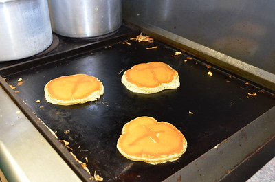Check out those miraculous crosses in our pancakes.