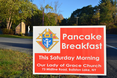 Welcome to our breakfast sign.