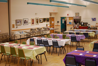 The Shenendehowa Adult Community Center offers a spacious room for event activities. This is just perfect for a large pancake breakfast.