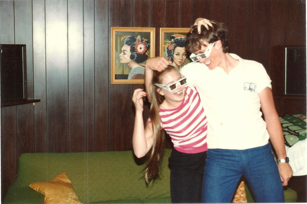 """Mark with sister after watching """"Adventures in the Forbidden Zone - 3D'"""