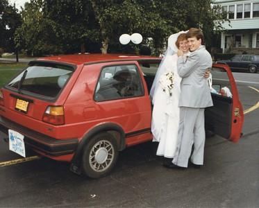 Wedding day photo - thanks Suzanne.