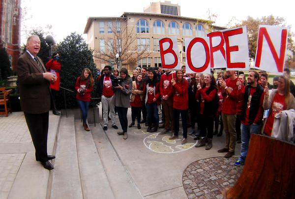 OU students celebrate Boren