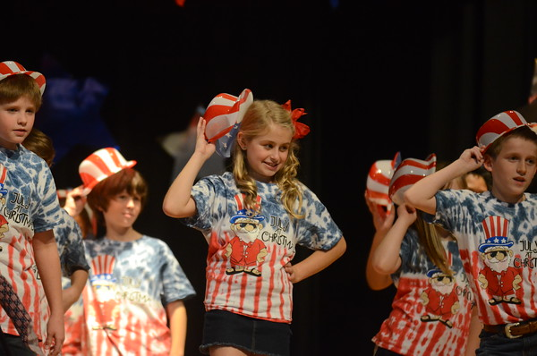 """Cleveland Elementary students perform """"July at Christmas"""""""