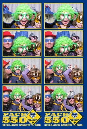 Cub Scouts Pack 550 - Blue and Gold Banquet 2018