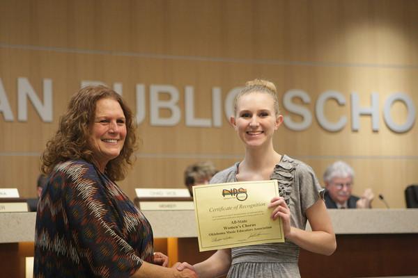 Fine Art awards at School Board
