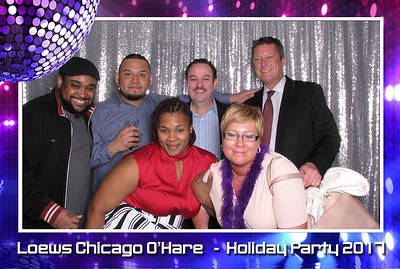 Loews Hotel O'Hare - Holiday Party 2017 (Open Air Booth)