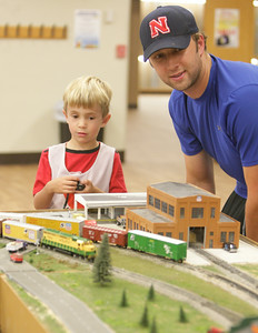 Model trains at Norman Public Library