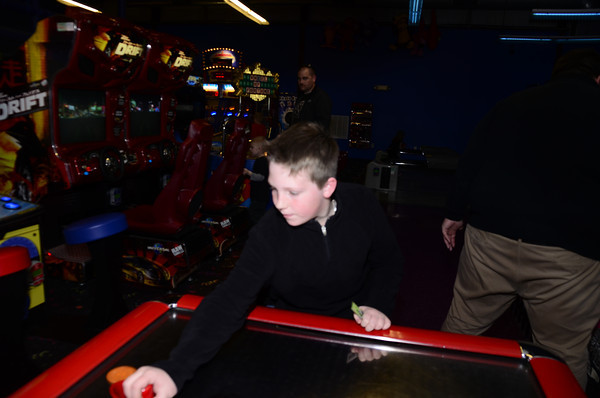 Members of the community spend time at Andy Alligators for Norman Kids Magazine release party Thursday, Feb. 3, 2014. Kyle Phillips / The Transcript