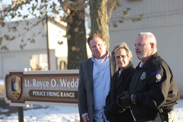 Norman Police range sign dedication