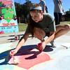 OU sidewalk art
