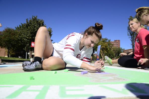 OU sidewalk chalk competition