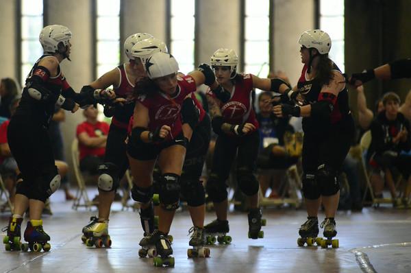 Oklahoma Victory Dolls All Star team against Kansas City Roller Warriors