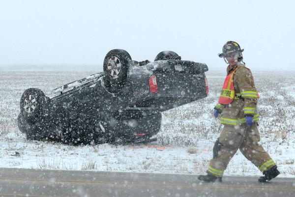 Snow rollover wreck