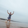 Members of the Oklahoma City Triathlon Club plunge into Lake Thunderbird to celebrate the New Year