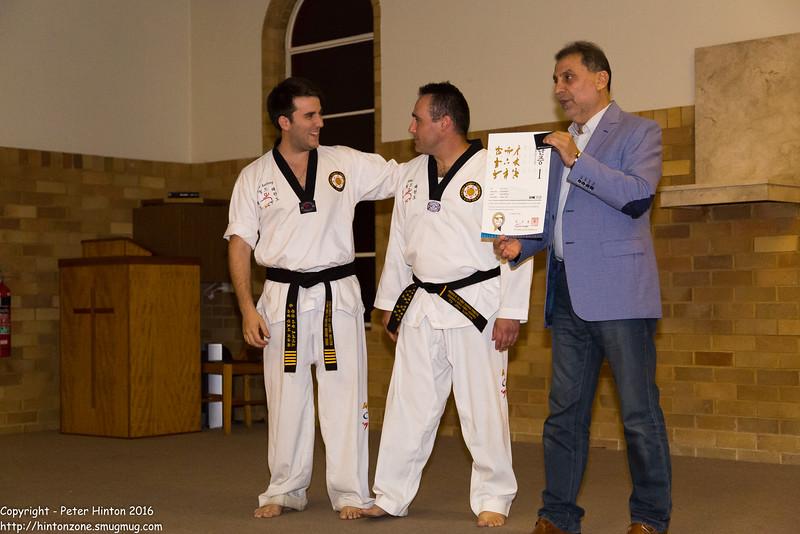Jibe receiving his First Dan certificate