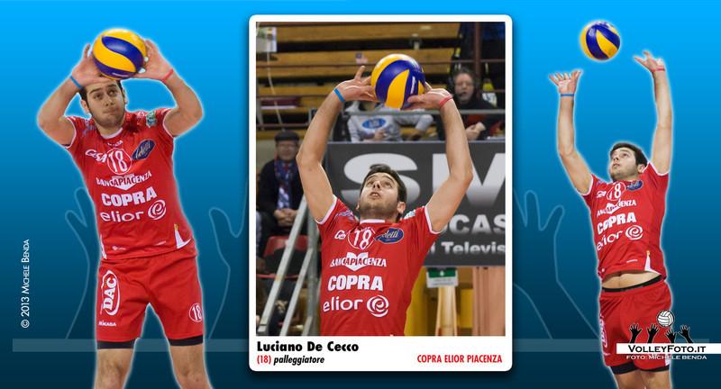 Luciano De Cecco,<br /> Palleggiatore della Copra Elior Piacenza, Campionato Italiano di Pallavolo Maschile Serie A1.<br /> <br /> The Copra Elior Piacenza setter, Italian Men's Volleyball A1 League.