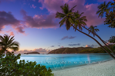 Sunset at Maho Bay, St. John, US Virgin Islands