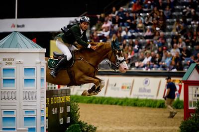 Paulo Santana on Taloubet competing in the Alltech National Horse Show $250,000 Grand Prix CSI-W
