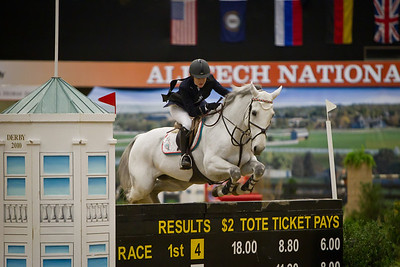 Saer Coulter on Victory DA competing in the Alltech National Horse Show $250,000 Grand Prix on 11.05.2011