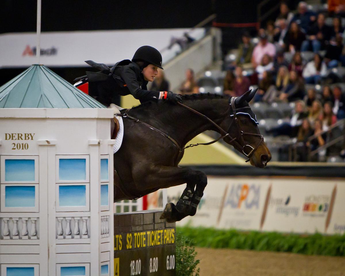 Jessica Springsteen on Cincinatti Le Silla competing in the Alltech National Horse Show $250,000 Grand Prix CSI-W