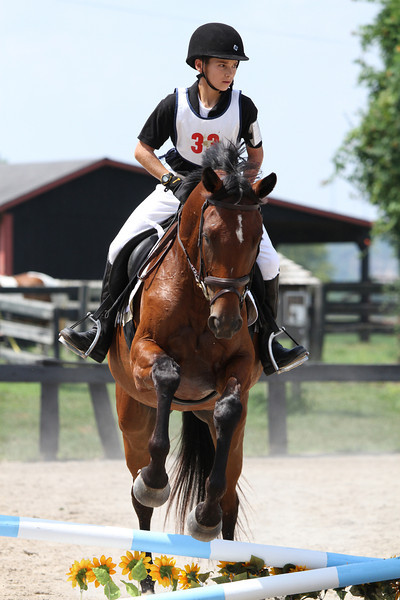 Storm Damage and M. Robbe at Stone Place Stables Mini Trial 07.31.2011.
