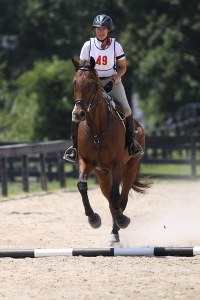 Nureyev with Annie Skaggs at Stone Place Stables Mini Trial 07.31.2011.