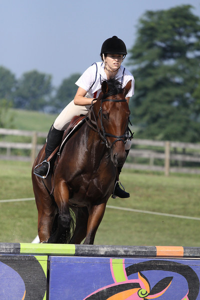 Delahoya with Pamela Deegan up at The Lands End Farm Mini Horse Trial. 07.10.2011
