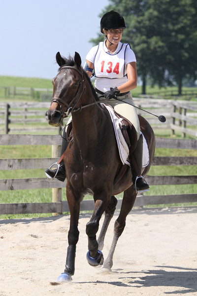 Maximum Sentence with Allison Henshaw up at The Lands End Farm Mini Horse Trial. 07.10.2011