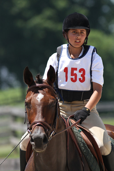 Expected Colors with Laurel Hall up at The Lands End Farm Mini Horse Trial. 07.10.2011