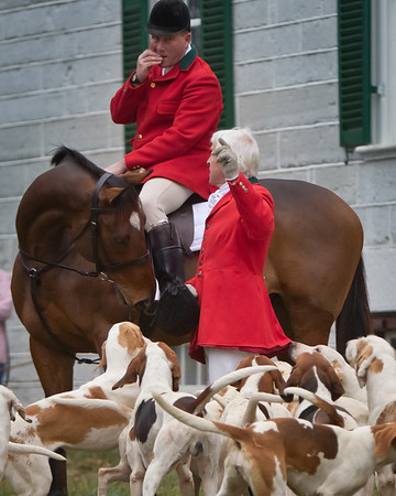 Opening Day of the Woodford Hounds (Woodford County Kentucky) Fox Hunting season which included the Blessing of the Hounds at historic Shakertown Village.