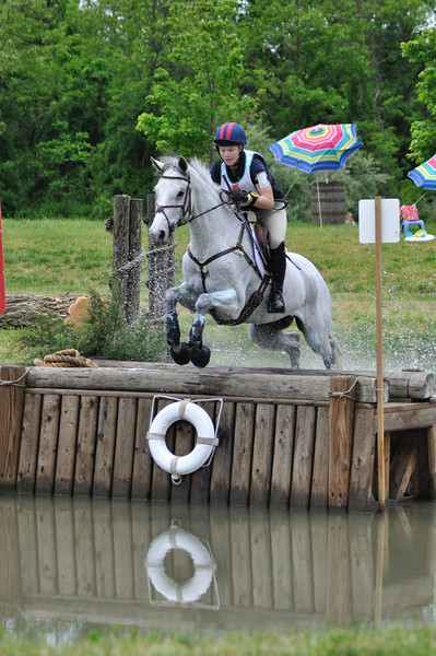 Caitlin Silliman and Catch A Star show how it's done in the water, on the CCI** course.  They ended the weekend in 2nd place!