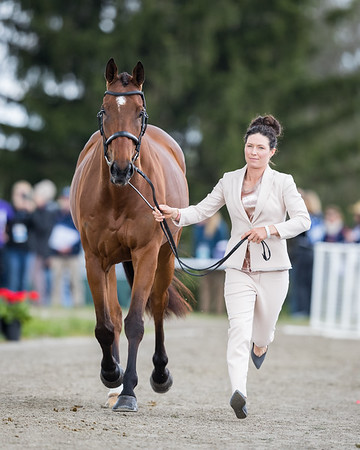 Kelly Prather & Truely Wiley at the first horse inspection at the Land Rover Ky. 3-Day Event.